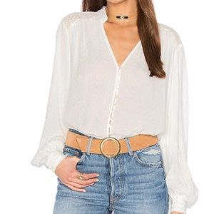 Free People Canyon Rose Button Down Top S